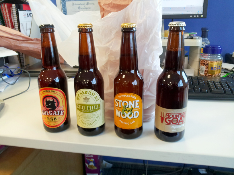 Be aware of Australians gifting beers: four from down under
