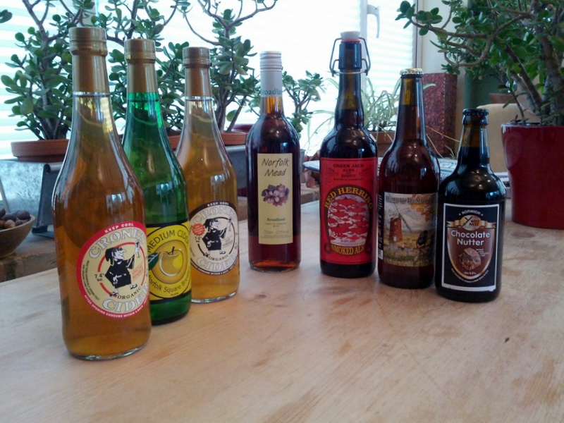 A small selection of East Anglian tipples