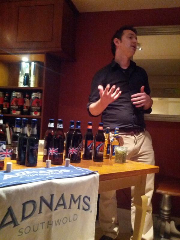 Tasting, tasting: Adnams beer tasting with FergusFitzgerald
