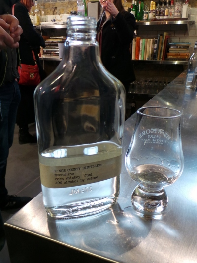 Raw corn whisky from