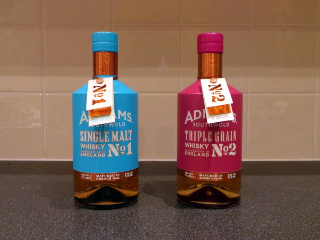 12 Drams of Christmas #9 and #10: Adnams Single Malt Whisky No.1 and Triple Grain WhiskyNo.2