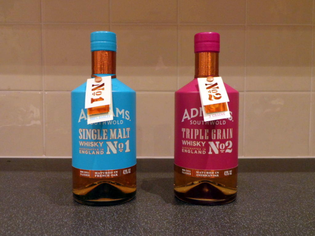 12 Drams of Christmas #9 and #10: Adnams Single Malt Whisky No.1 and Triple Grain Whisky No.2